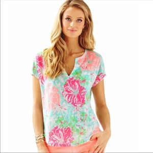 NWT Lilly Pulitzer Duval Notch Tropical Top